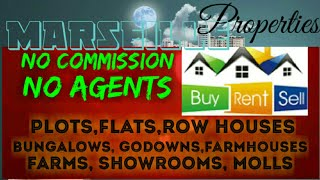 MARSEILLE PROPERTIES ☆ Sell •Buy •Rent ☆ Flats~Plots~Bungalows~Row Houses~Shop $Real estate ☆
