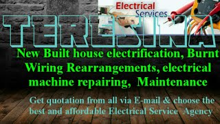 TERESINA      Electrical Services 》Home Service by Electricians ☆ New Built House electrification ♤