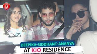 Ananya Panday, Siddhant Chaturvedi, Deepika Padukone Meet At Karan Johar's Residence