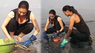 Dia Mirza & Pragya Kapoor Hosting Mahim Beach Clean Up Drive