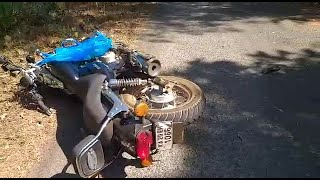 Accident Between Two Two-Wheelers At Loliem