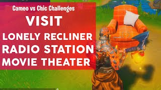 Visit a Lonely Recliner, a Radio Station and an Outdoor Movie Theater Fortnite