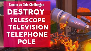 Destroy a Telescope, a Television and a Telephone Pole Fortnite