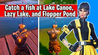 Catch a fish at Lake Canoe, Lazy Lake, and Flopper Pond (glitch bug fix)