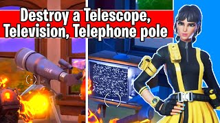 Destroy a Telescope, a Television, and a Telephone pole (glitch Bug fix)