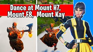 Dance at the top of Mount H7, Mount F8, and Mount Kay (glitch bug fix)