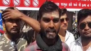 Keshod   Distribution of bags of free cloth  ABTAK MEDIA