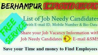 BERHAMPUR      EMPLOYEE SUPPLY   ! Post your Job Vacancy ! Recruitment Advertisement ! Job Informati