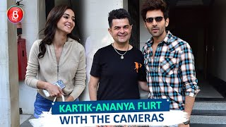 Rumoured Couple Kartik Aaryan & Ananya Panday Flirt With The Cameras | Pati, Patni Aur Woh