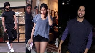 Jhanvi Kapoor, Shahid kapoor, Varun Dhawan Spotted | News Remind