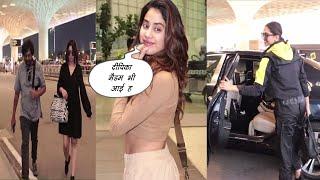 Janhvi Kapoor, Deepika Padukone, Charmy Kaur & Vijay Deverakonda Spotted At Airport