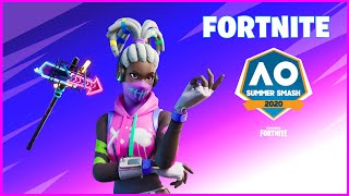 FORTNITE AUSTRALIAN OPEN SUMMER SMASH REWARDS- KOMPLEX SKIN, STREET SHINE PICKAXE, PAINT SPLASH WRAP