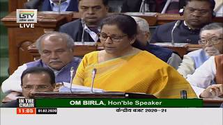 Finance Minister Smt Nirmala Sitharaman presents Union Budget 2020-21
