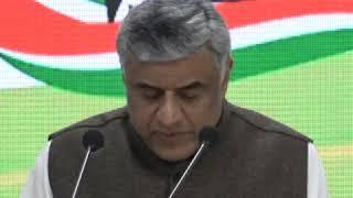 Rajeev Gowda addresses media at Congress HQ on Economic Survey