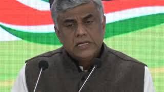 Rajeev Gowda addresses media at Congress HQ on The Economic Survey