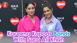 Sara Ali Khan Bonds With Dad Saif Ali Khan's Wife Kareena Kapoor For Radio Chat Show