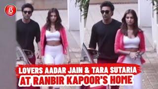 Lovebirds Aadar Jain And Tara Sutaria Caught Outside Ranbir Kapoor's House