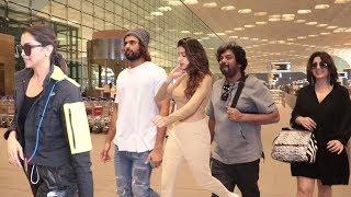 Spotted At Airport : Deepika Padukone, Charmi, Janhvi Kapoor With Vijay Devarakonda