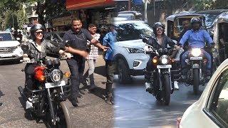 Dabangg Girl Riding Royal Enfield Bike In Public | Sonakshi Sinha Bike Riding Video