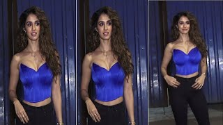 Disha Patani Looking Very Bold In Blue Top | Disha Patani Very Hot | Aditya Roy & Disha Patani