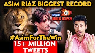 Bigg Boss 13 | Asim Riaz Creates Record 15 MILLION Tweets In 34 Hrs | #AsimForTheWin | BB 13 Latest