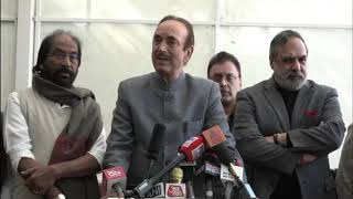 Budget Session 2020 | Ghulam Nabi Azad and Anand Sharma addresses media in Parliament House