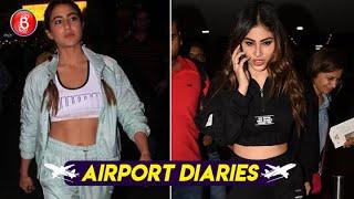 Sara Ali Khan & Mouni Roy Rock The Airport Look With Panache | Love Aaj Kal | Brahmastra | Naagin