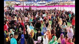 CAA NRC के खिलाफ खंडवा की मुस्लिम महिलाओं ने उठाई आवाज़   हजरत खानशाह वली दरगाह मैदान धरना