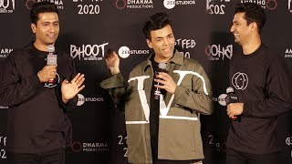 Karan Johar & Vicky Kaushal FUNNY Moments With Media At Bhoot The Haunted Ship Trailer Launch