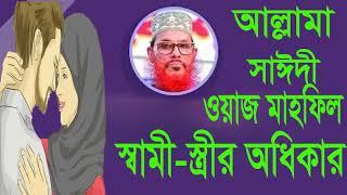 ইসলাম স্বামী-স্ত্রীর অধিকার নিয়ে কি বলে ? শুনুন আল্লামা সাঈদীর এই অসাধারন ওয়াজটি । Saidi Waz Mahfil