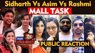 Bigg Boss 13 MALL TASK | Asim Riaz, Sidharth, Rashmi Desai | PUBLIC REACTION