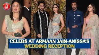 Kareena Kapoor, Ranbir Kapoor & Alia Bhatt Grace Armaan Jain-Anissa Malhotra's Wedding Reception