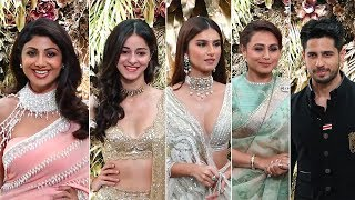 Ananya, Shilpa Shetty, Rani Mukerji, Sidharth Malhotra With Tara Sutaria At Armaan Jain Wedding