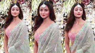 Alia Bhatt Looking So Beautiful At Armaan Jain Wedding Party | News Remind