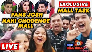 Bigg Boss 13 MALL TASK | Fans NOT READY To Leave The MALL | Asim, Rashmi, Sidharth | BB 13