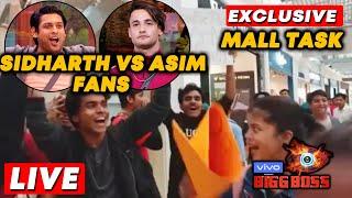 Bigg Boss 13 MALL Task LIVE   Sidharth Vs Asim Fans   Team Bollywood Spy At Oberoi Mall