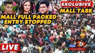 Bigg Boss 13 MALL TASK LIVE   FULL PACKED   Entry Stopped   Asim Rashmi Sidharth