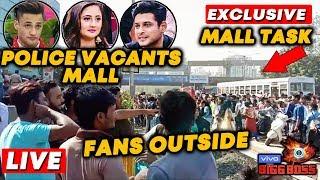 Bigg Boss 13 MALL TASK LIVE   Fans Thrown Out Of MALL   Asim Sidharth Rashmi   BollySpy At Oberoi