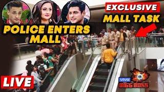 Bigg Boss 13 MALL TASK LIVE   Police Enters Mall   Asim Sidharth Rashmi   Bollywood Spy At Oberoi