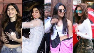Bollywood Beauties Tara Sutaria, Kiara Advani, Janhvi Kapoor And Alia F Spotted In Mumbai