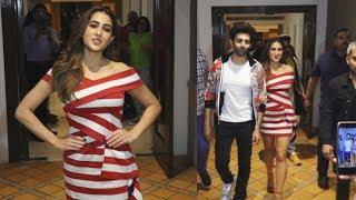 Kartik Aaryan And Sara Ali Khan Spotted Promoting Love Aaj Kal