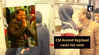 CM Arvind Kejriwal casts his vote