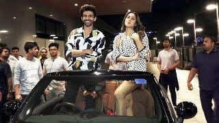 Sara Ali Khan And Kartik Aaryan Arrived in Open Car For Love Aaj Kal Promotion