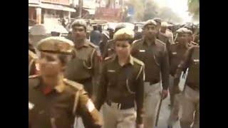 Delhi polls: Flag march by Delhi Police in Shaheen Bagh