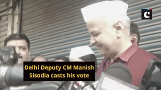 Delhi Deputy CM Manish Sisodia casts his vote