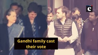Gandhi family cast their vote