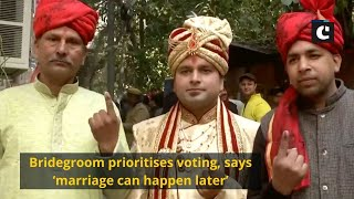 Bridegroom prioritises voting, says 'marriage can happen later'
