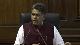 LIVE: Congress Party Briefing By Manish Tewari at Parliament House on PM Modi's Speech in Lok Sabha