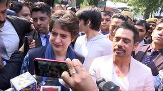I hope the people Delhi will vote for development & progress: Priyanka Gandhi Vadra after voting