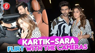 Kartik Aaryan And Sara Ali Khan Spotted Flirting With The Cameras As They Promote Love Aaj Kal